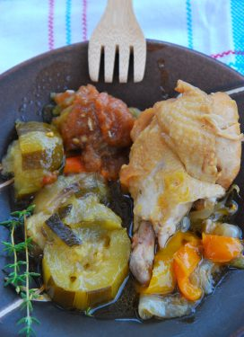 Making chicken Basquaise… and basking in the present