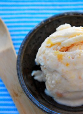 Subtle is the new sweet: Nectarine Shiso Ice Cream