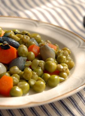 Peas and Carrots Jardinière, a traditional French recipe