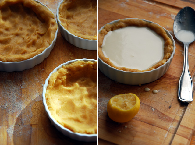 french lemon pie crusts and filling