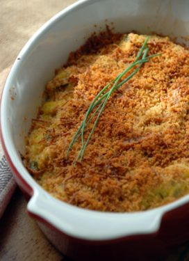 Cheesy squash casserole, and some acknowledgements…
