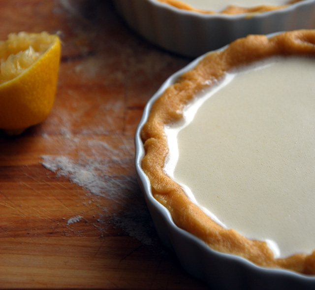 French lemon pie filling in crust