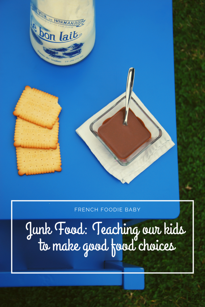 Junk food: teaching our kids to make good food choices