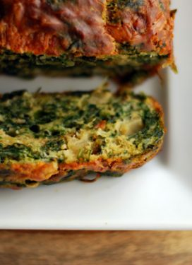 A Veggie Cake with Fennel, Spinach & Watercress, a must make