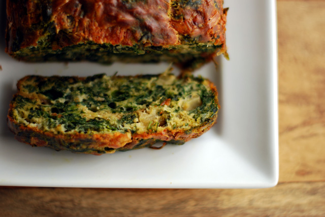 cake made with Spinach, watercress