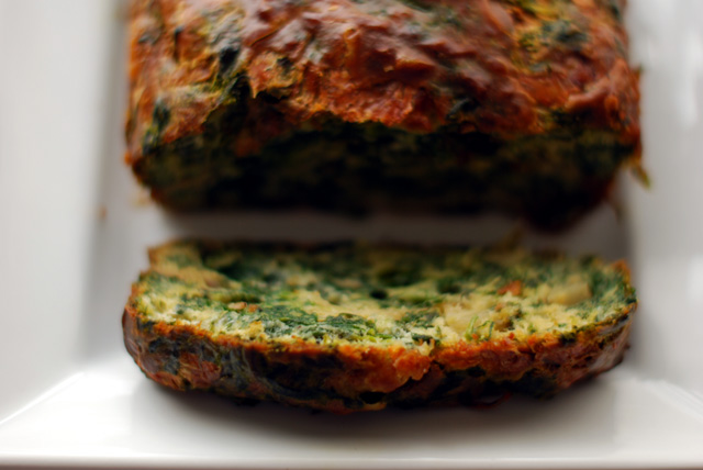 Veggie Cake with Fennel, Spinach and watercress