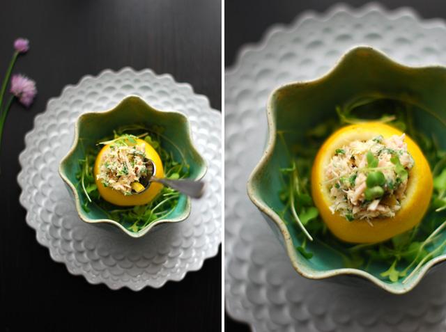 Stuffed Lemon Tuna appetizer