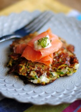 Easy and delicious zucchini mint fritter