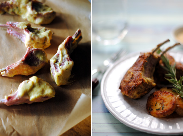 Polenta-crusted Lamb Chops