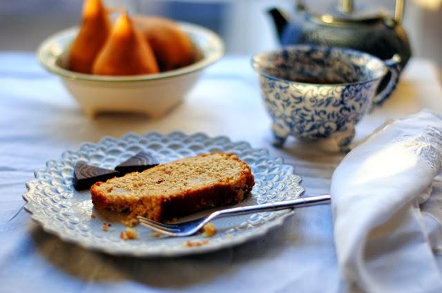 Pear Almond Spelt Cake