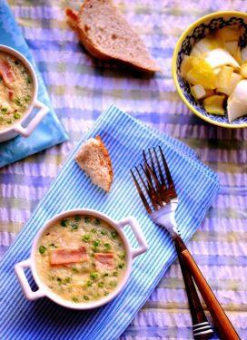 Meals are our garden… & a Boursin, pea & ham clafoutis
