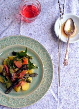 Asparagus & lavender salad, a bad day & an anniversary
