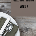 Title page for Weekly Menu / Meal plan
