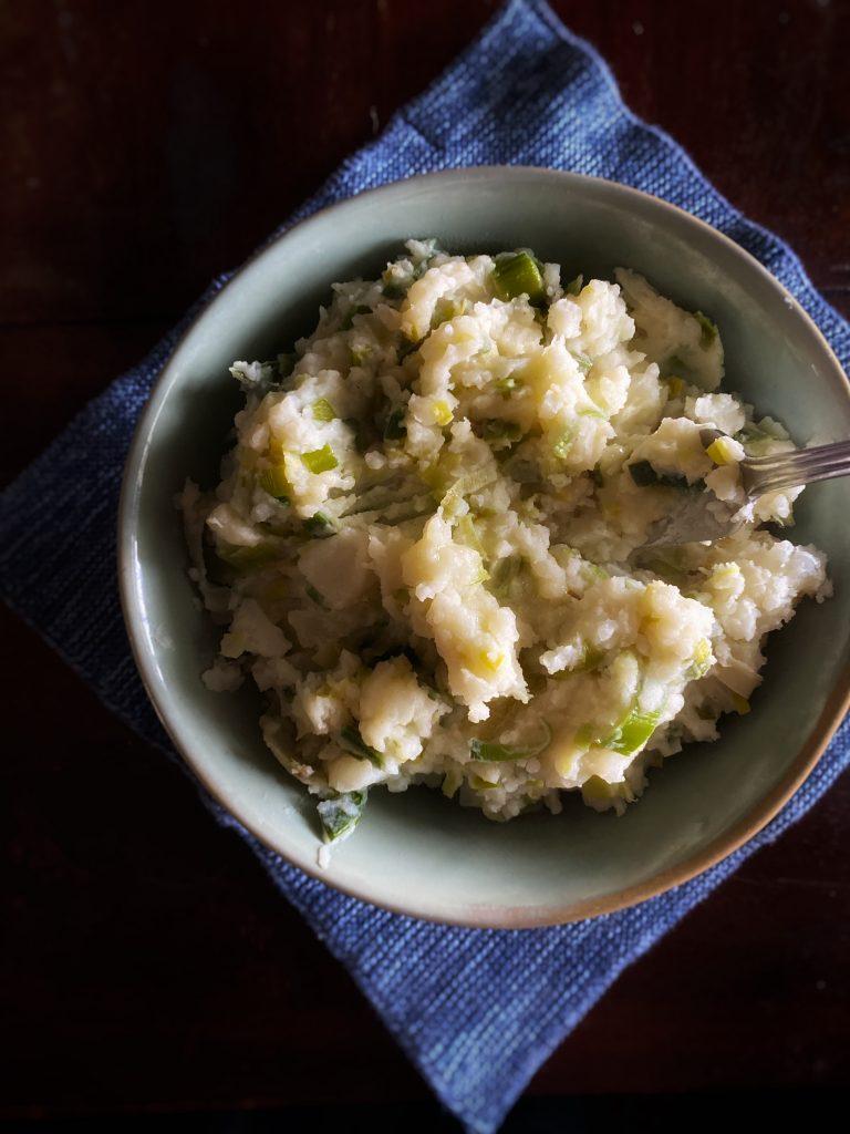 colcannon irish mash with leeks