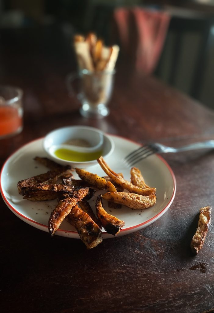 Celeriac Chips with truffle oil