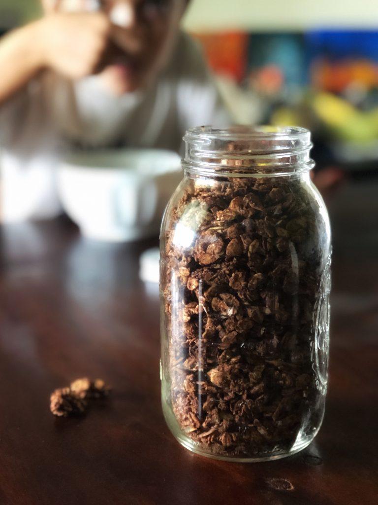 homemade chocolate hazelnut granola