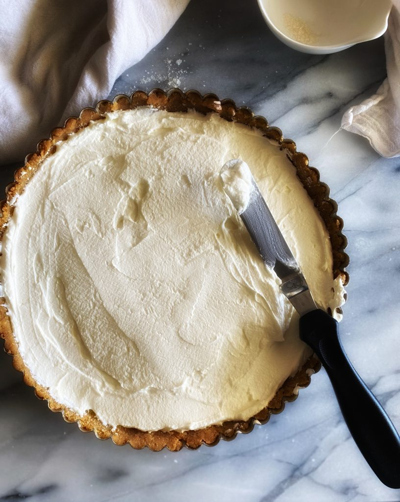 Cream in pie dough